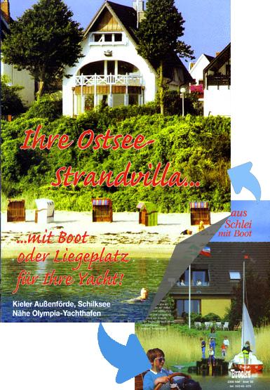 Sie informieren sich über die Ostsee-Strandvilla in Kiel - beachten Sie auch das Ferien-Landhaus auf einem Ufergrundstück am Ostseefjord Schlei!