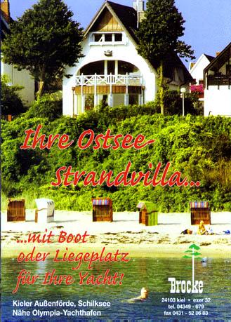 Ostsee-Strandvilla in Kiel - den Strand vor der Tür. Mit Boot oder Liegeplatz für Ihre Yacht!